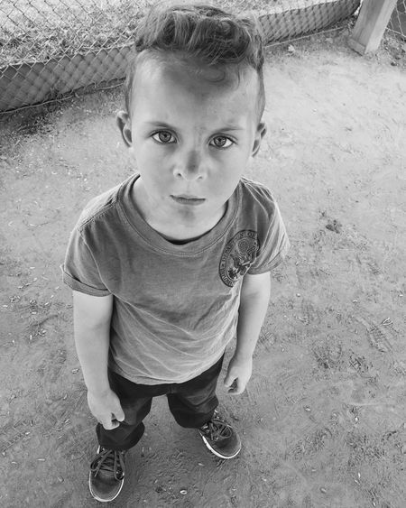 Lookioking at camera]a Cute Innocence Elementary Age Person Childhood Playing Black And White Outdoors Getoutside