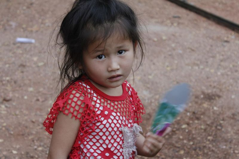 Childhood Cute Innocence Girls Lifestyles Playing Outdoors Johnnelson Lifeasiseeit Village Life No Filter, No Edit, Just Photography Vientiane Southeastasia John Nelson Person Preschool Age