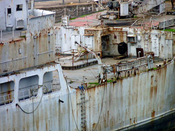 Abandoned Boat Brest Damaged Deterioration Harbour Mode Of Transport Nautical Vessel Naval Obsolete Old Portuaire Ruined Rusty Shades Of Grey