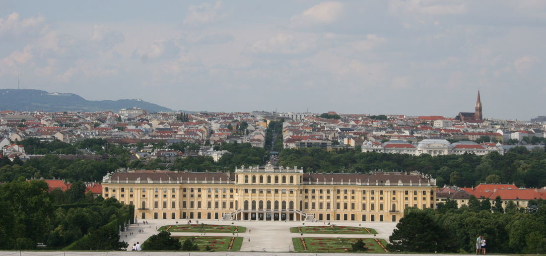Schloss Schönbrunn, Castle Schonbrunn, Wien, Vienna, Österreich, Austria Austria Castle Imperial Imperial Palace Monarchy Schönbrunn, Vienna Austria Sehenswürdigkeit Sightseeing Tourist Attraction  Vienna Architecture Barock Baroque Baroque Architecture Baroque Style Building Building Exterior Built Structure City Cityscape Day Emperor History Kaiser Kaisertum Nature No People Outdoors Palace Plant Residential District Schloß Schönbrunn Schonbrunn Palace Schönbrunn Sissy  Sky The Past Town TOWNSCAPE Travel Travel Destinations Tree Wien Österreich