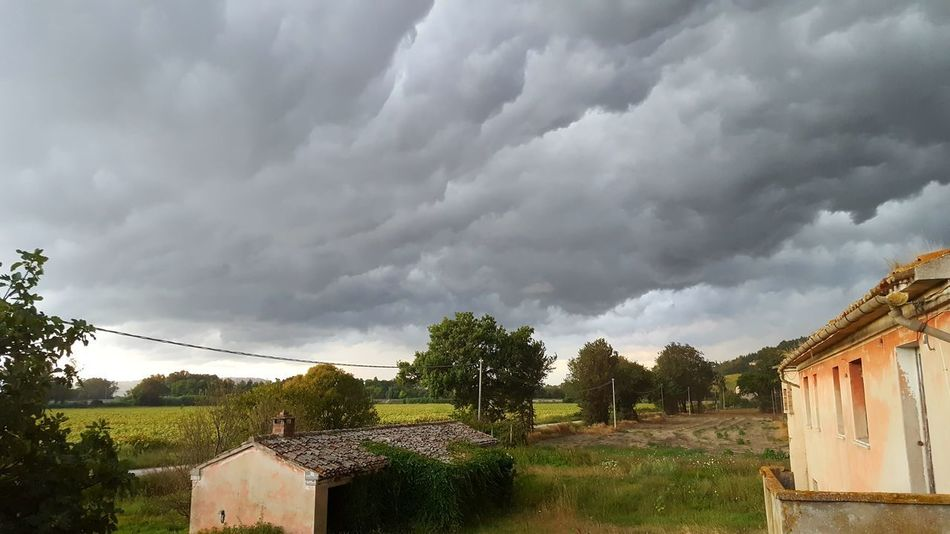 Home Is Where The Art Is Likeapainting Countryside The Rain Is Coming Clouds - in Loreto, Italy EyeEmNewHere