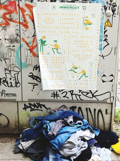 Text Graffiti Wall - Building Feature Western Script Creativity No People Dirty Art And Craft Messy
