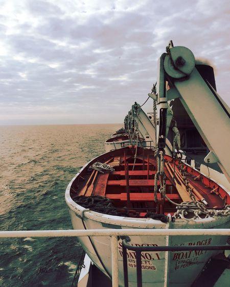 Nautical Vessel Horizon Over Water Water Great Lakes Steamship SS Badger Ludington, Michigan Lifeboat Outdoors Harbor