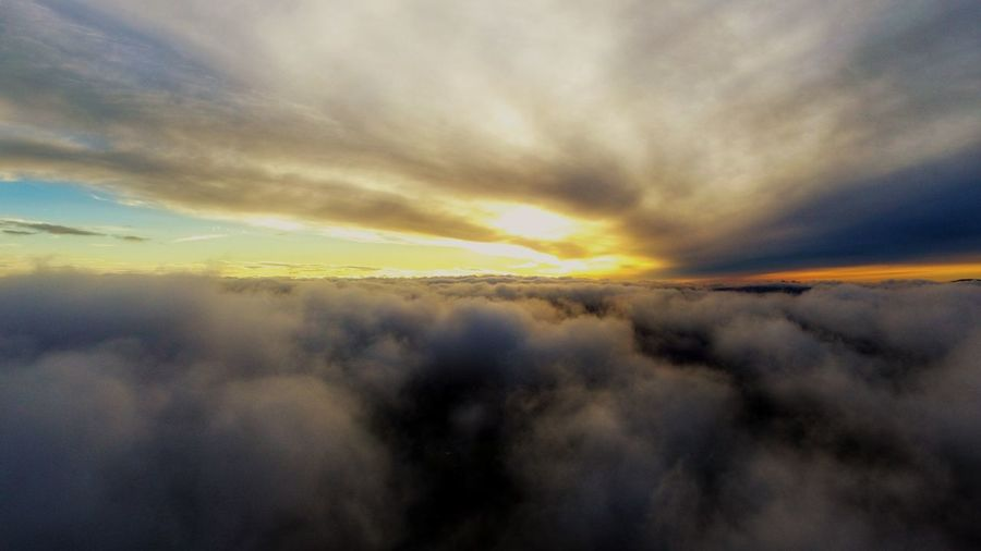 Dronephotography Dramatic Sky Drone Shot Dronefly Darryn Doyle Check This Out Tree Multi Colored Sunset Spectrum Rural Scene Rainbow Autumn Yellow Storm Cloud Summer Sky Only Shining Cumulonimbus Heaven Fluffy Moody Sky Refraction Meteorology Cumulus Cloud Romantic Sky