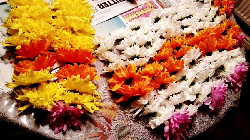 Flower Yellow Close-up Flower Head Beauty In Nature Multi Colored Indian Wedding Flower Garland