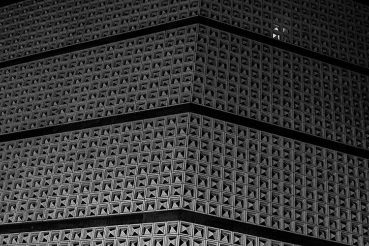 Edgy geometry Architecture Sixties Black And White Photography Egon Eiermann  Brunswick Braunschweig Department Store