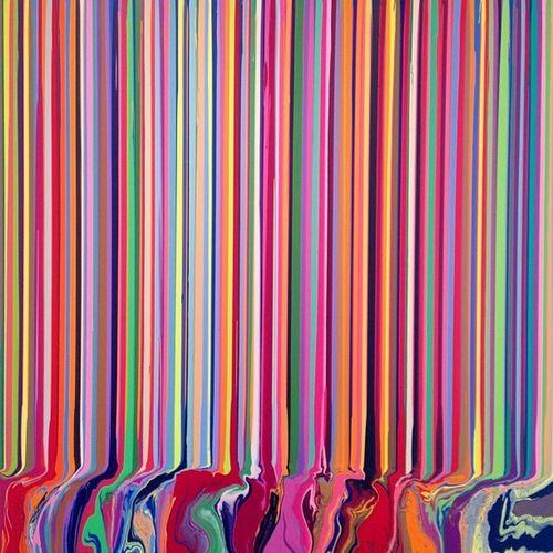 Colorfall Spectroscopic - Iandavenport @ Paulkasmin gallery in chelsea manhattan paulkasmingallery nyc newyork newyorkcity art painting