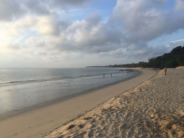 Morning at Desaru Beach Beach Sea Sand Sky Nature Tranquil Scene Water Scenics Beauty In Nature Cloud - Sky Tranquility Outdoors Vacations No People Nature Horizon Over Water Day