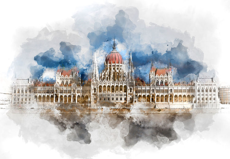 Digital watercolor painting of a Hungarian Parliament Building. Budapest, Hungary Budapest Budapest, Hungary Digital Watercolor Digital Watercolor Painting Hungarian Parliament Building Parliament Building Watercolour Altered Architecture Building Exterior Built Structure City Day Digital Art Digital Illustration Digital Painting Digitally Altered Digitally Generated Digitally Generated Image Famous Place Gothic Revival Architecture Illustration Outdoors Watercolor Watercolor Painting