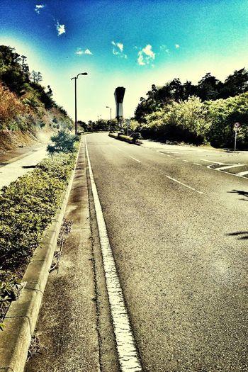 いわきサンシャインマラソンの名物、三崎公園の山登り。ハーフ過ぎてからこの登りは軽く逝きかける(^^;; #iPhoneography IPhoneography Marathon Snapseed
