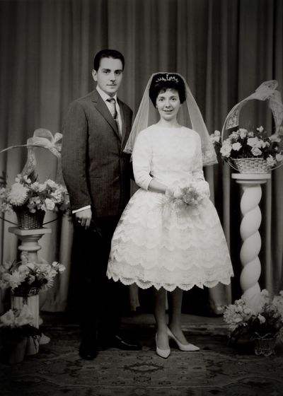 My Father and my Mother during their Wedding 1963 I am present in the photo... In the belly of my mother ?????