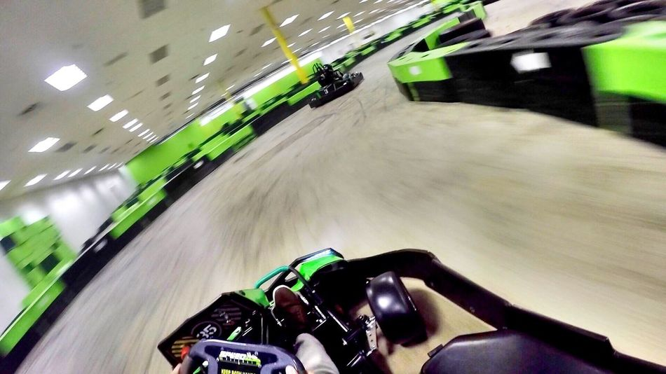 Adventure Blurred Motion Go Karting Gopro High Angle View Speed