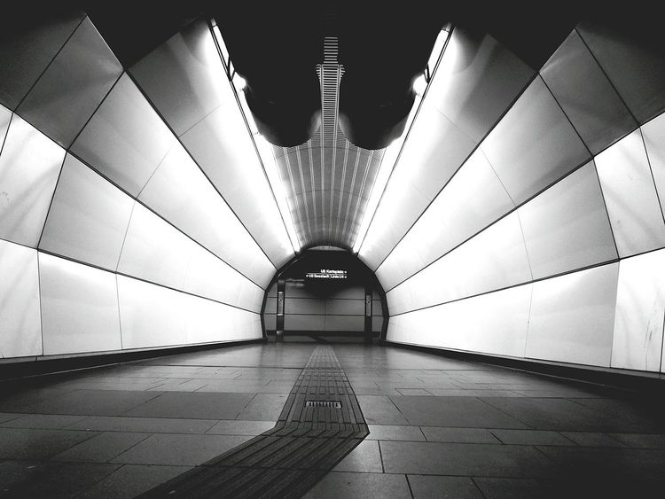Architecture Underground Station  Metro Station Black And White The Graphic City Tunnel The Way Forward Indoors  Architecture Illuminated No People Day