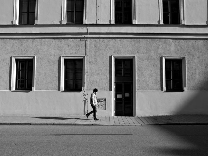 City Street One Person Walking Full Length Outdoors Day Document The Streets Real People Foto Snap Photography Photo Photooftheday Travel Black Color Blackandwhite Field City Life City Street Urban Road City Germany Building Exterior Women