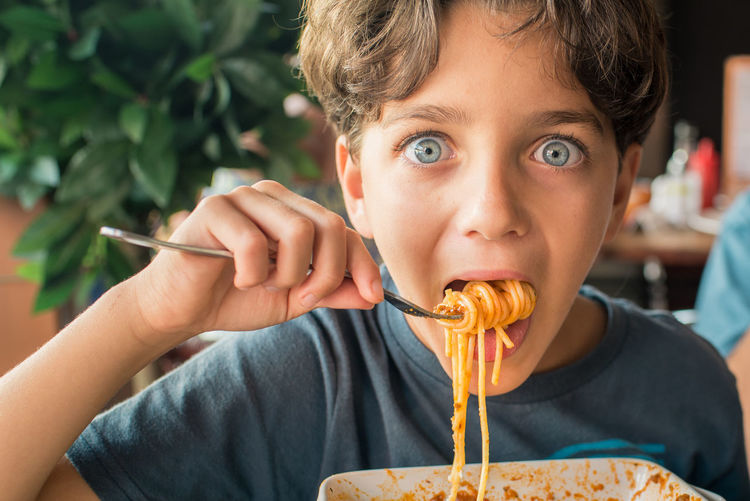food stories Blue Eyes Eating Happiness Hungry Spaghetti Boys Child Childhood Day Food Food And Drink Italian Food Looking At Camera One Boy Only One Person Pasta People Portrait Real People