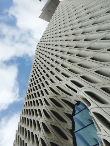 The broad Thebroad Losangeles Architecture Low Angle View Built Structure Building Exterior No People Pattern Day Modern Outdoors Close-up Sky