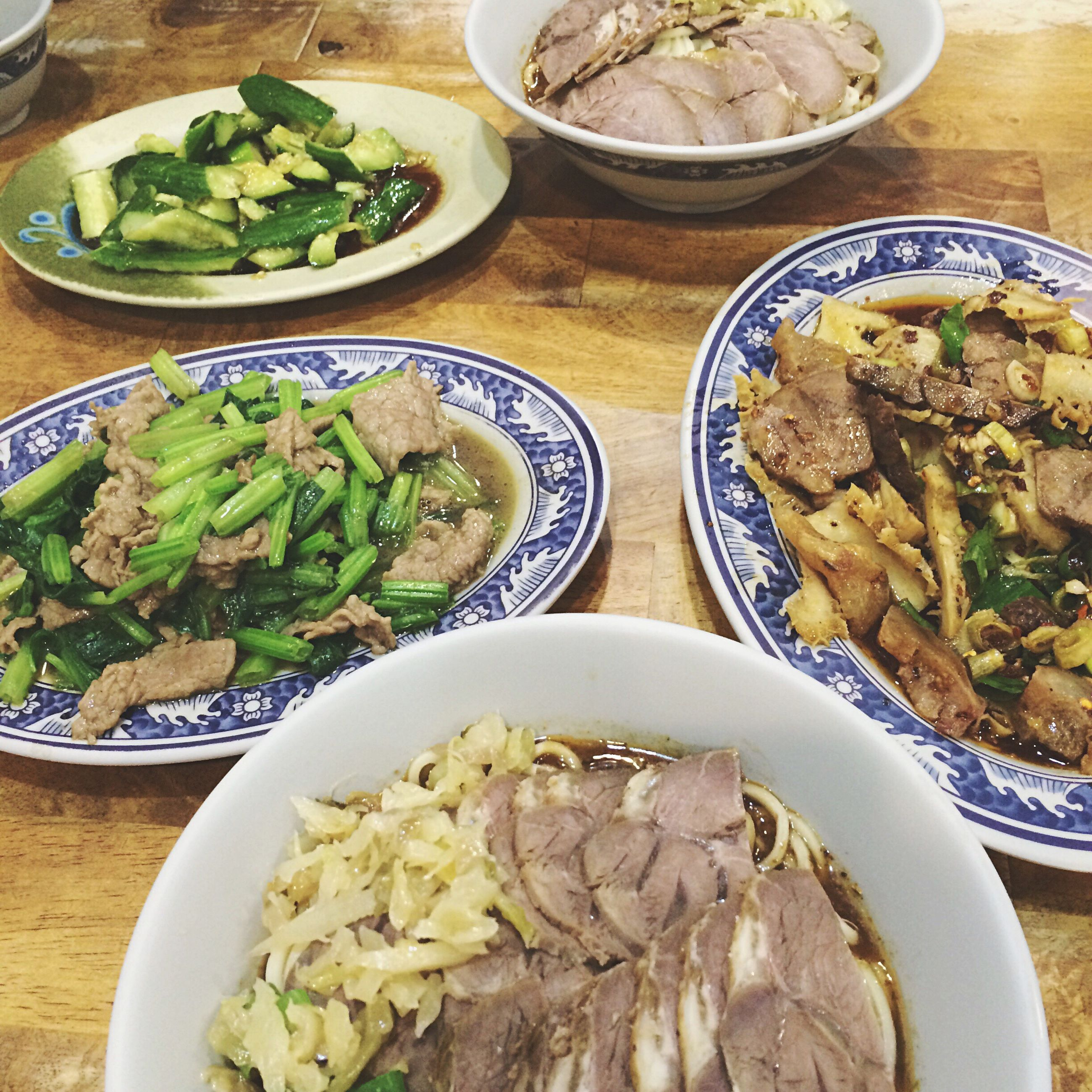 food and drink, food, freshness, indoors, healthy eating, ready-to-eat, plate, bowl, table, still life, meal, serving size, high angle view, vegetable, salad, served, meat, noodles, seafood, close-up
