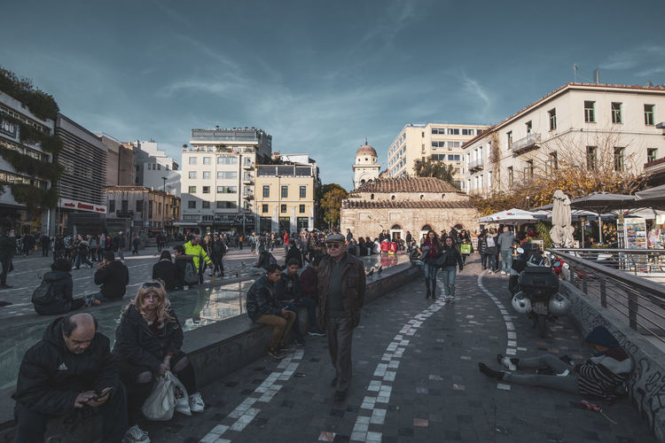 Athens Athens Greece Athens, Greece Architecture Building Exterior City Built Structure Group Of People Real People Large Group Of People Crowd Street Transportation Nature Sky Building Women Day Mode Of Transportation City Life Men Adult Outdoors