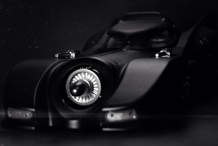 Batmobile, battle mode. Batman Knightsofgotham Toys Toyphotography BatFan Timburton MOVIE Batmobile Blackandwhite Photography Blackandwhite Michaelkeaton HotWheels Diecast Diecastphotography