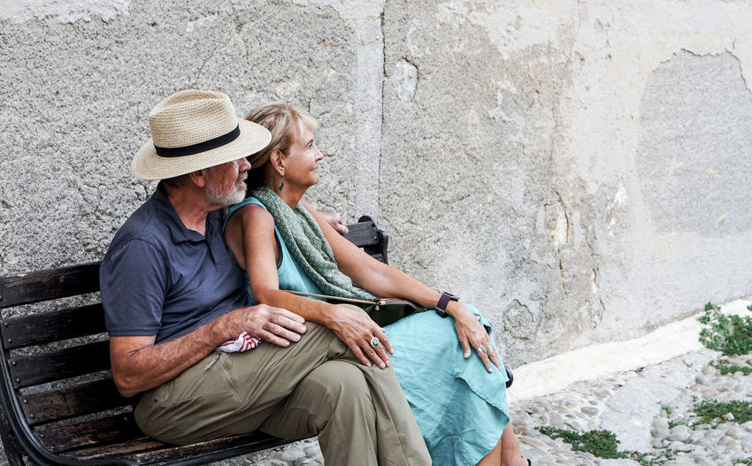 happy ouple Two People Hat Men Sitting Togetherness Adult Males  Emotion Couple - Relationship Senior Adult Senior Men Leisure Activity Clothing Heterosexual Couple Three Quarter Length Casual Clothing Bonding Love Relaxation Positive Emotion Senior Couple Sun Hat Mature Men Outdoors Sicily Street Photography Streetphotography
