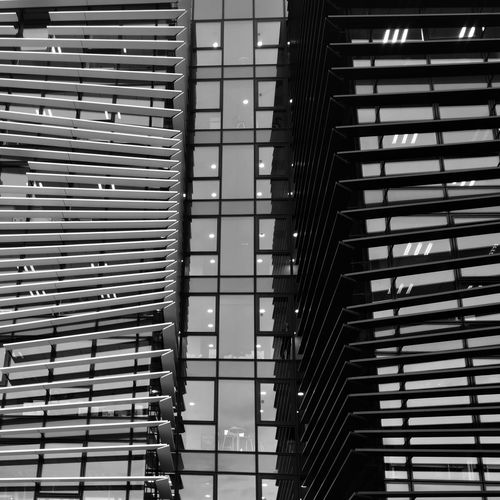 Architecture Built Structure Pattern No People Building Exterior Low Angle View Outdoors Modern Day Monochrome Photograhy Huaweip9photos Dontsnapshoot Blackandwhite City Reflection Low Angle View Black And White Huaweiphotoacademy Black And White Photography MonochromePhotography Capturedonp9 Shadow Indoors  Landscape Silhouette