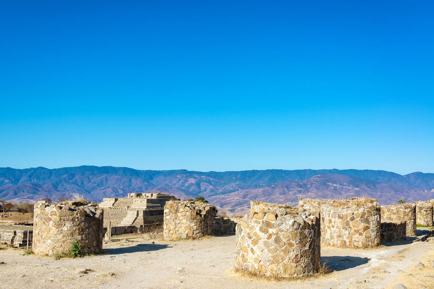 Columns in the ruins of the ancient city of Monte Alban in Oaxaca, Mexico Architecture Cityscape Hills Mayan Mayan Ruins Mexico Oaxaca Oaxaca México  Pyramid Rock Ruins Temples Travel Building Maya Monte Alban Mountain Old Platforms Rocks Ruin Stone Stones Temple Tourism