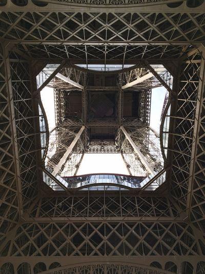 Eiffel Tower Eiffelturm HDR Fractal Spectacular Silhouette Iron Work Bottom Up Center Focus Afternoon After The Rain Details Fractals