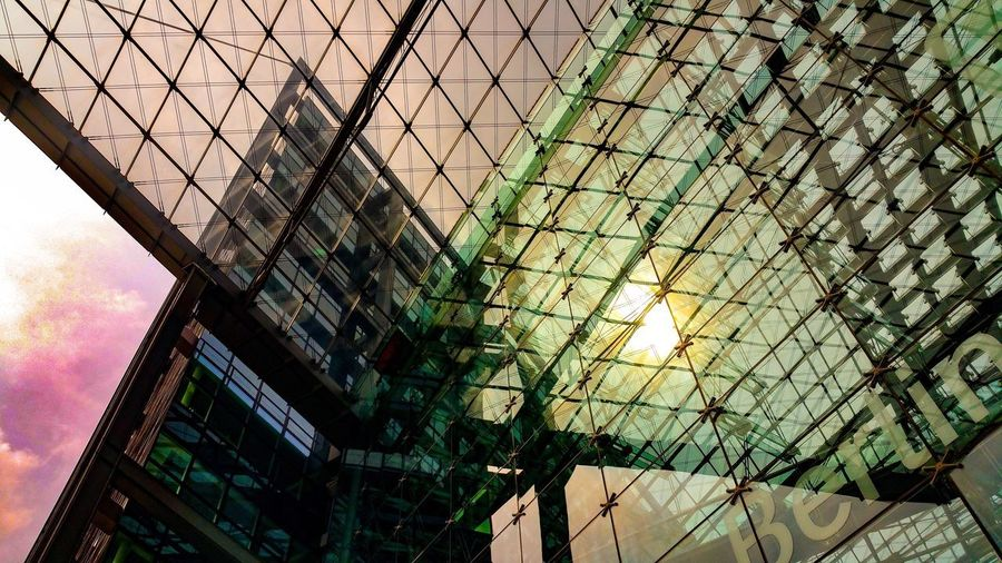Berlin Photography Hauptbahnhof Berlin Low Angle View Architecture Illuminated Building Exterior
