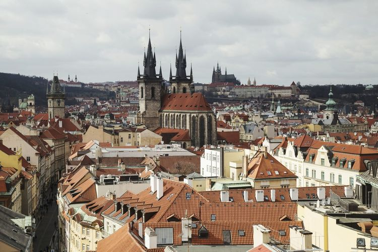 View over Prague, the City of a Hundred Spires Prague Prague Castle Iloveprague Czechrepublic Europe Mustvisit