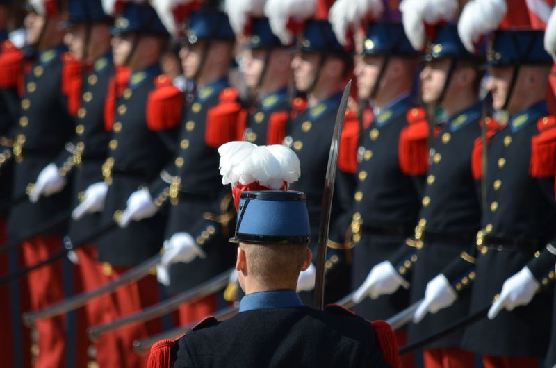 Honor guards during parade