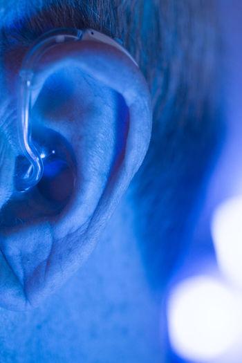 Close-up of blue paint