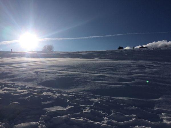 Sunshine in South Tirol Snow ❄ Südtirol Beauty In Nature Cold Temperature Day Frozen Landscape Landscape With Sunset Lens Flare Meransen Nature No People Outdoors Scenics Ski Skigebiet Sky Snow Sun Sunbeam Sunlight Sunshine Tranquility Vapor Trail Winter
