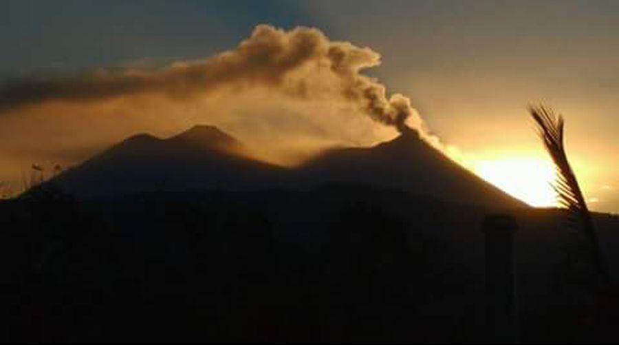 Volcano. Guatemala Monning Nature Sunset Power In Nature Erupting Sky Day