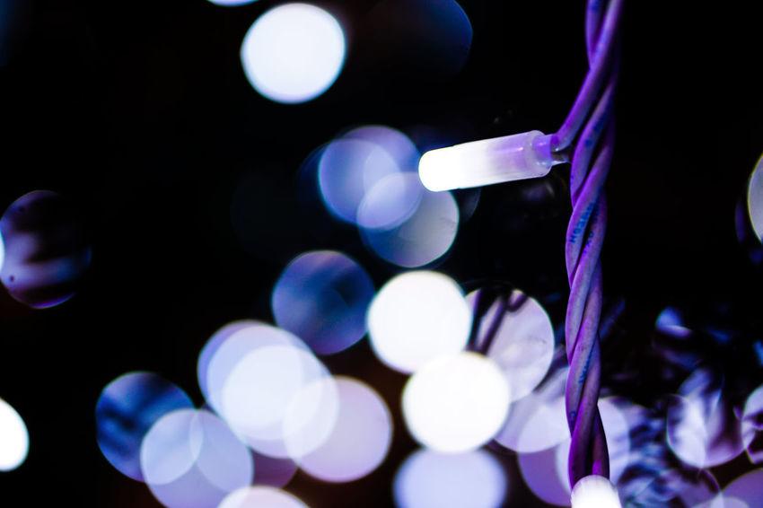 Lights Electricity  Equipment Light Beam Beautiful Electric Light Electrical Equipment Lighting Equipment No People Lamp No People Outdoors Night Close-up Night Lights Bokeh Christmas Lights Christmas Decoration Christmastime Christmas Tree
