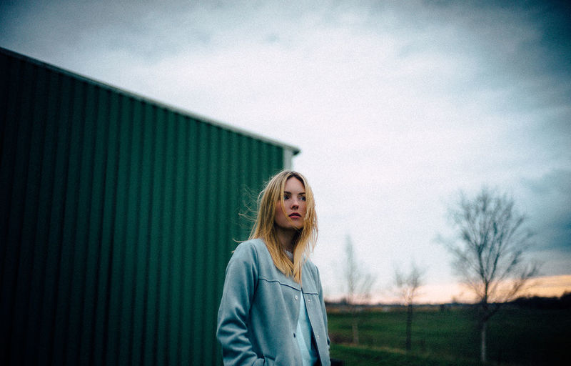 35mm VSCO Casual Clothing Cloud - Sky Contemplation Day Front View Hair Hairstyle Leica Leisure Activity Lifestyles M9 Nature One Person Outdoors Portrait Real People Sky Standing Teenager Waist Up Women Young Adult The Week On EyeEm Editor's Picks The Portraitist - 2018 EyeEm Awards Autumn Mood