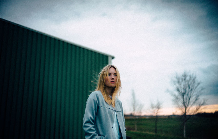 35mm VSCO Casual Clothing Cloud - Sky Contemplation Day Front View Hair Hairstyle Leica Leisure Activity Lifestyles M9 Nature One Person Outdoors Portrait Real People Sky Standing Teenager Waist Up Women Young Adult The Week On EyeEm Editor's Picks The Portraitist - 2018 EyeEm Awards