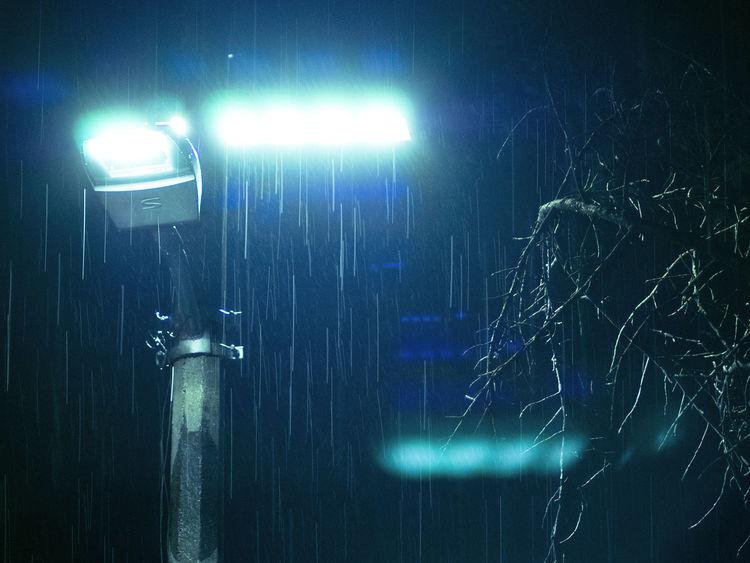 Drops Drops Of Water Flare Flares2 Phtography Illuminated Indoors  Lighting Equipment Low Angle View Night No People Rain Rain Night Rain Night In City Raindrops Sky Technology
