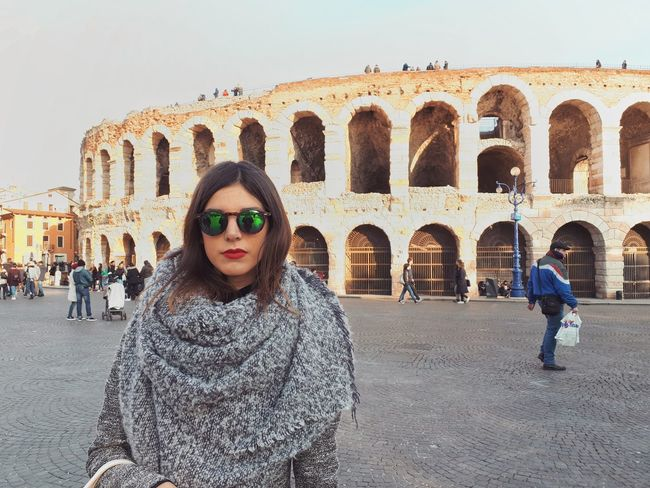 Serious... 🙈 Instacollage Instalove Love Verona LikesWithTags Follow4follow Instalike Picoftheday Instafollow Followme Architecture Travel Destinations Day Young Women Sky