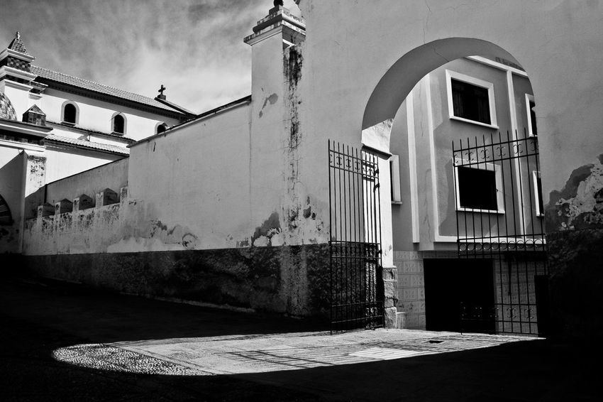 Church Copacabana Bolivia Gate Light Arch Architecture Building Exterior Built Structure Day No People Outdoors Religion Shadows Sky