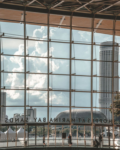 Architecture Built Structure Glass - Material Transparent Day Sky Building Exterior Cloud - Sky Building No People Low Angle View Nature Outdoors Window Reflection City Travel Travel Destinations Modern Ceiling