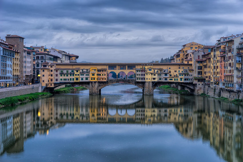 Ponte Vecchio Architecture Architecture Bridge Bridge - Man Made Structure Building Building Exterior Built Structure Canal City Cloud Color Colors EyeEm Best Edits EyeEm Best Shots EyeEm Gallery EyeEmBestPics Firenze Florence Ponte Vecchio Reflection River Sky Vecchio Water Showcase April