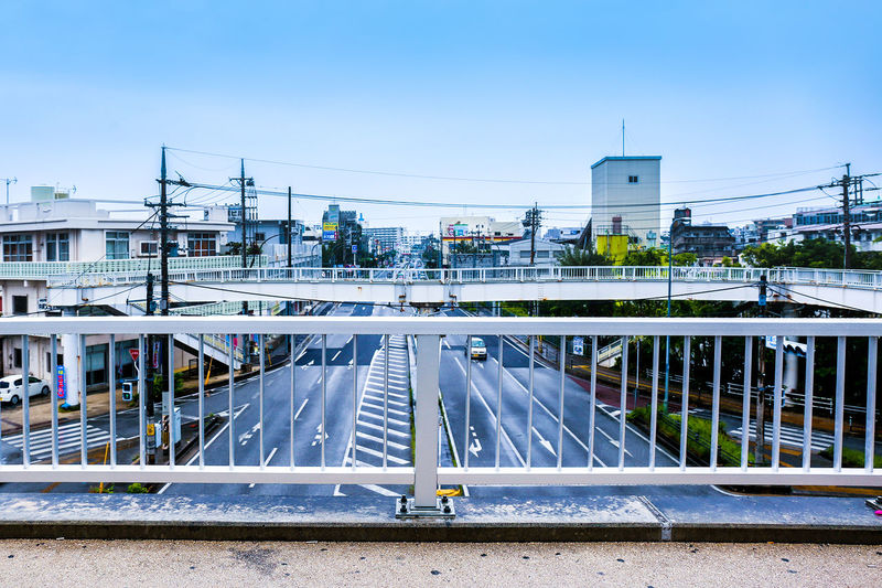 Architecture Bridge - Man Made Structure Building Exterior Built Structure Cable Cat City Clear Sky Connection Day Electricity  Japan No People Okayama Outdoors Railing Road Road Roadtrip Sky Transportation