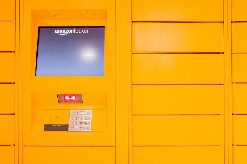 Close-up of yellow closed door