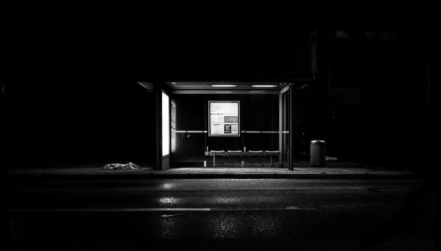 Dark Munich Poster Architecture Black Black And White Bus Bus Stop City Dark Empty Illuminated Night No People Stop Text Wallpaper Wallpapers White