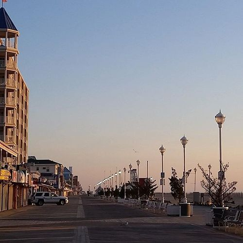 Just me and Ocpd on the boards this morning.... Oceancitycool OceanCity Maryland Ocmd Boardwalk Sunrise