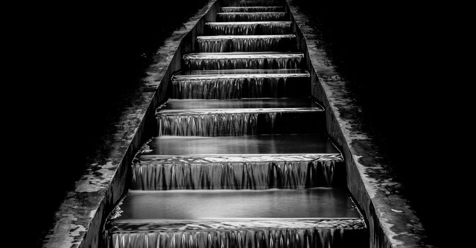 Blackground Dark Liquid Abstract Architecture Black And White Continuous Day Dynamics Fluid Light And Shadow Nature No People Outdoors Smoothie Steps Water EyeEmNewHere