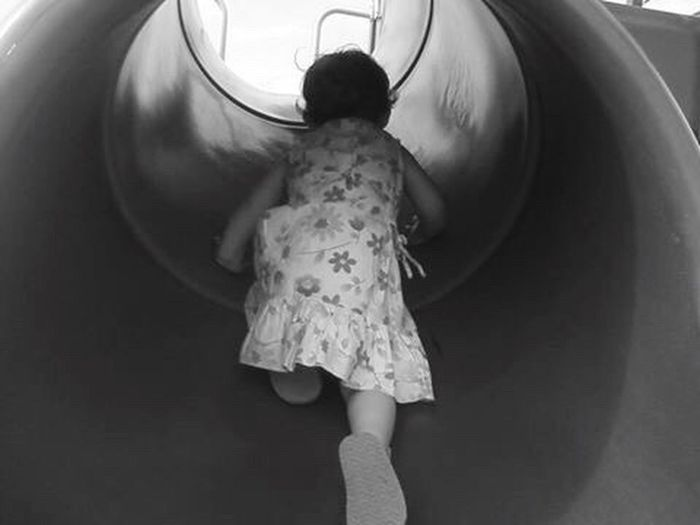 Sommergefühle Childhood One Girl Only Playing Girls Enjoyment Happiness Slide - Play Equipment
