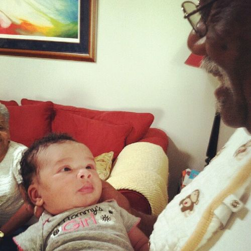 My other cousins baby! Seeing my papa hold her makes my heart smile Babyharper