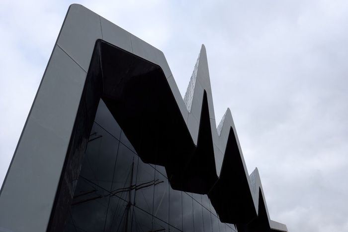 Low Angle View Architecture Modern Built Structure No People Sky Day Outdoors Building Exterior City Close-up Riverside Museum Glasgow