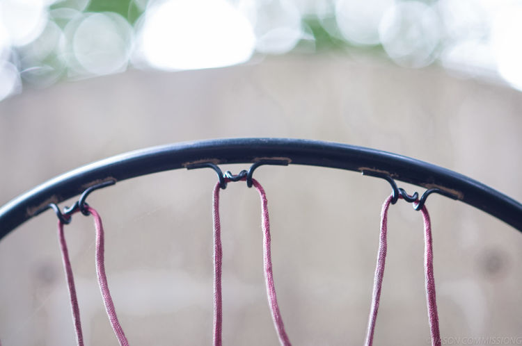 Basketball Close-up Curve Focus On Foreground Man Made Object Metal No People Red Spiked Wrought Iron